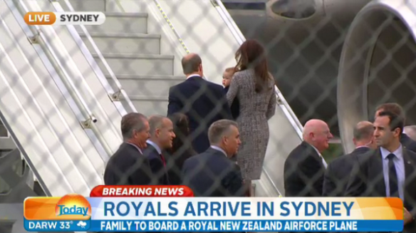 William, Kate and George board RAFNZ plane in Sydney for Wellington